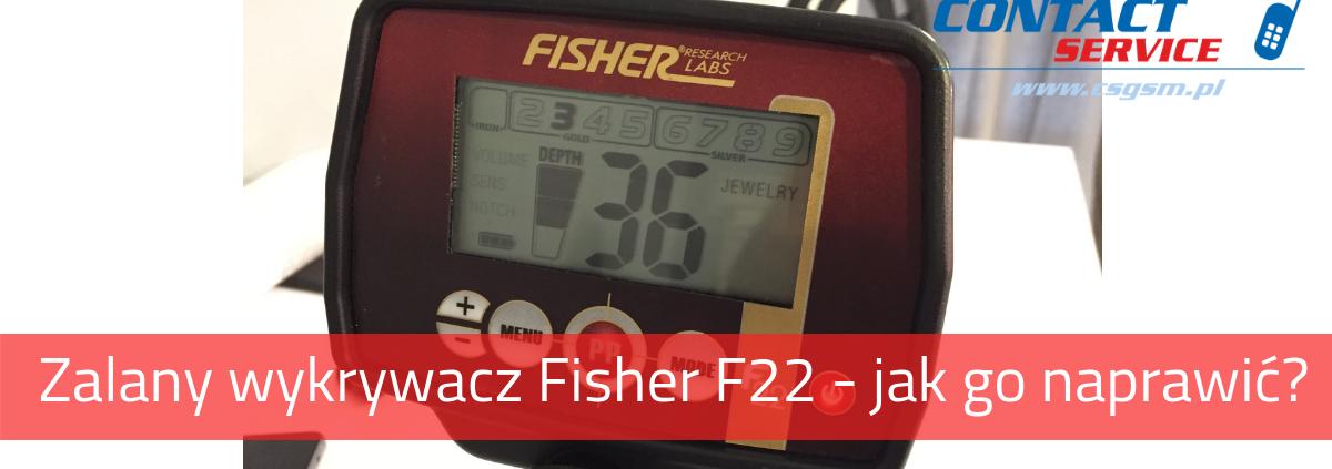 Zalany wykrywacz Fisher F22 - nie działa klawiatura