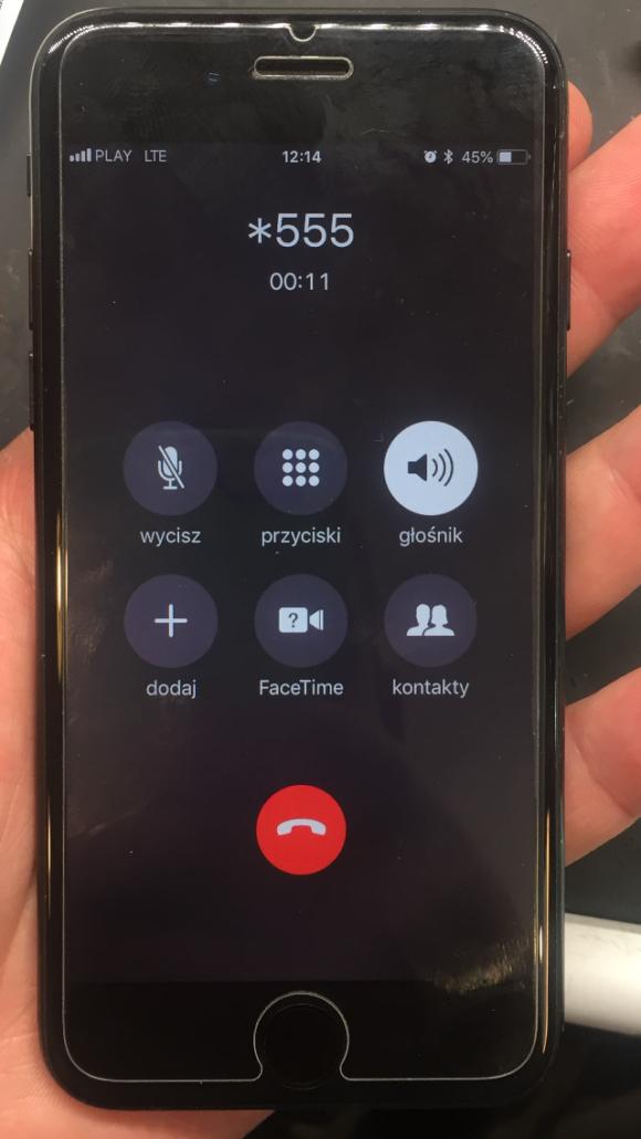 iPhone 7 nie działa głośnomówiący
