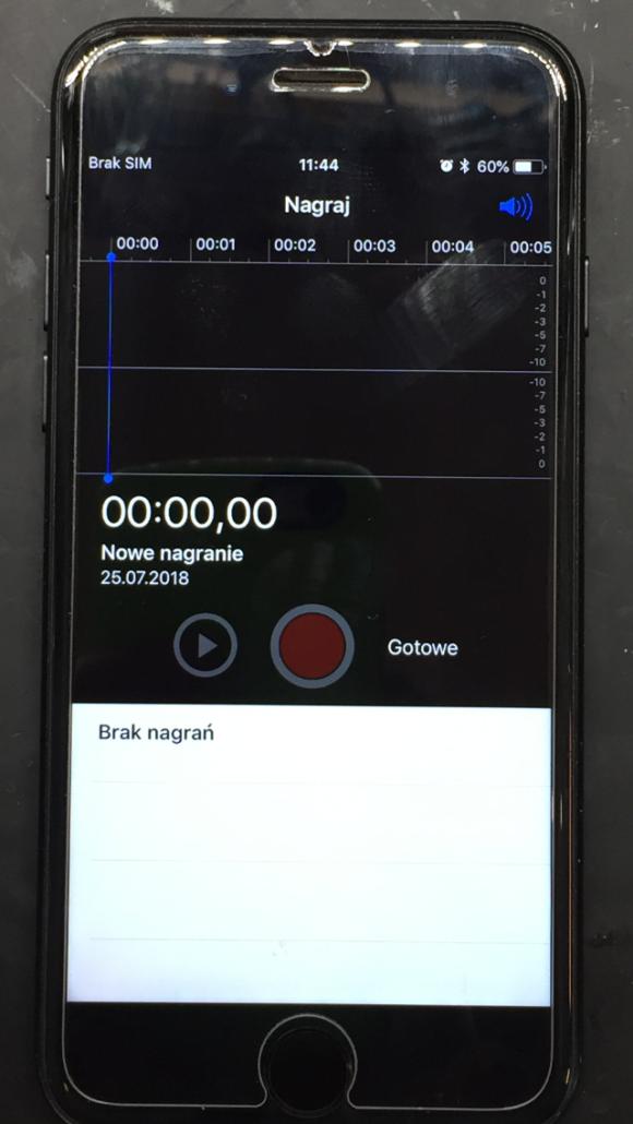 iPhone 7 nie działa dźwięk